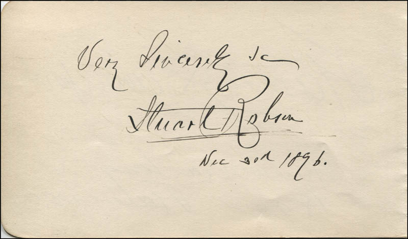 Image 1 for Stuart Robson - Autograph Sentiment Signed 12/30/1896 co-signed by: Fanny Davenport - HFSID 323524