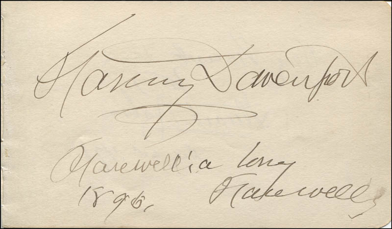 Image 3 for Stuart Robson - Autograph Sentiment Signed 12/30/1896 co-signed by: Fanny Davenport - HFSID 323524