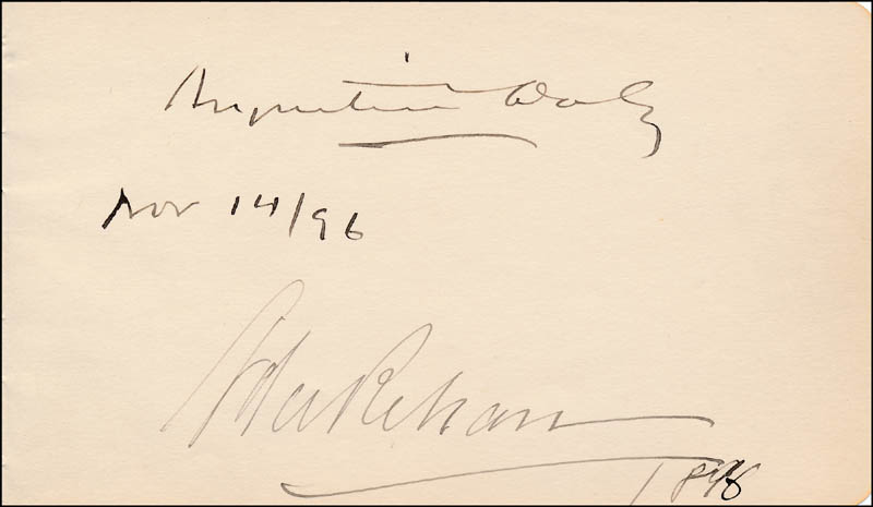 Image 1 for Augustin Daly - Autograph 11/14/1896 co-signed by: Ada Rehan - HFSID 323542