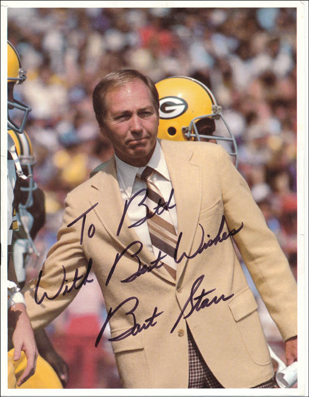 Image 1 for Bart Starr - Autographed Inscribed Photograph - HFSID 323564