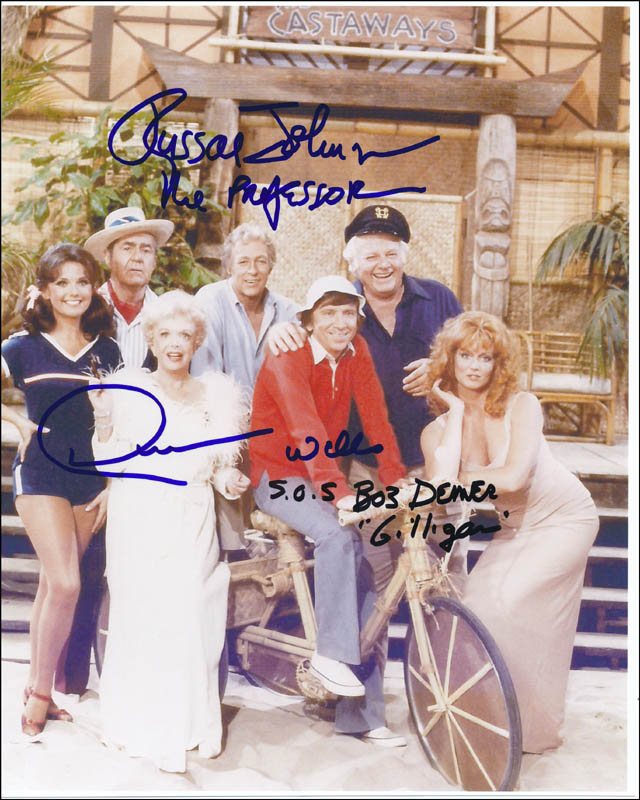 Image 1 for Gilligan'S Island TV Cast - Autographed Signed Photograph co-signed by: Russell Johnson, Bob Denver, Dawn Wells - HFSID 323565