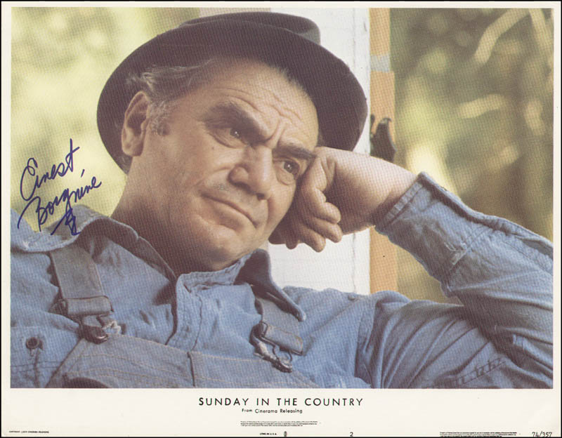 Image 1 for Ernest Borgnine - Lobby Card Signed - HFSID 323609