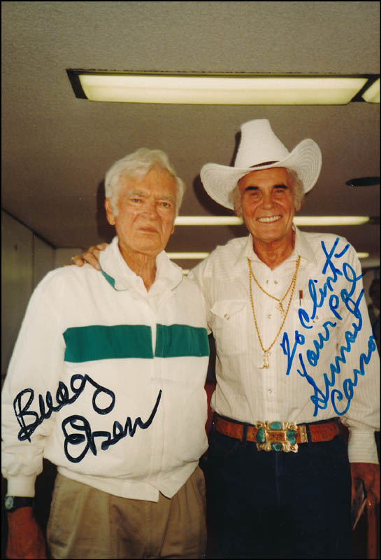Image 1 for Sunset Carson - Autographed Inscribed Photograph co-signed by: Buddy Ebsen - HFSID 323721