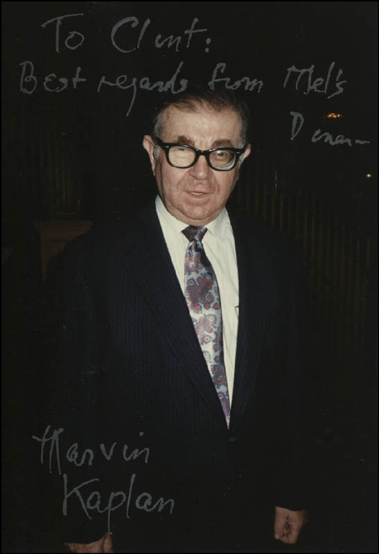 Image 1 for Marvin Kaplan - Autographed Inscribed Photograph - HFSID 323742