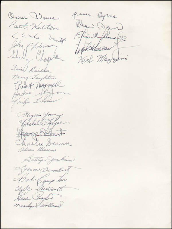 Image 1 for Destry Rides Again Play Cast - Show Bill Signed with co-signers - HFSID 323795