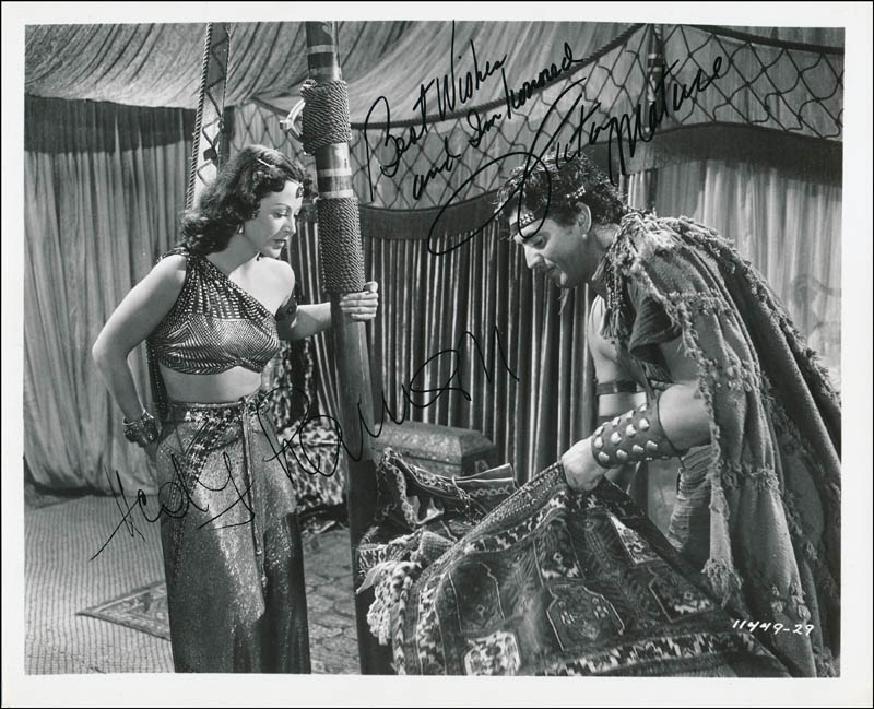 Image 1 for Samson & Delilah Movie Cast - Autographed Signed Photograph co-signed by: Hedy Lamarr, Victor Mature - HFSID 323798