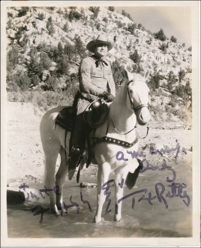Image 1 for Tex Ritter - Autographed Inscribed Photograph - HFSID 323804