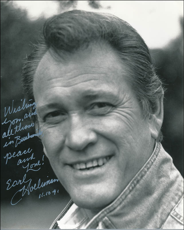 Image 1 for Earl Holliman - Autographed Inscribed Photograph 11/10/1991 - HFSID 323867