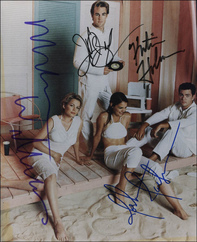 Image 1 for Dawson'S Creek TV Cast - Autographed Signed Photograph co-signed by: Michelle Williams, Katie Holmes, James Van Der Beek, Joshua Jackson - HFSID 323908