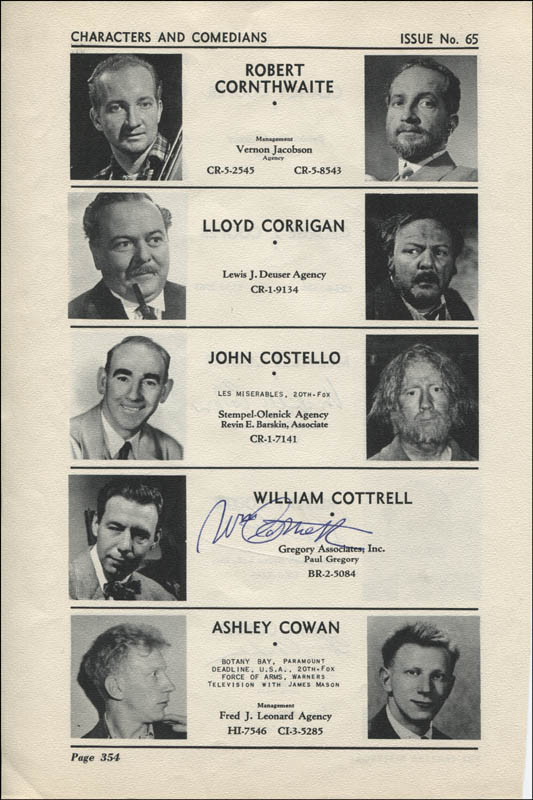 Image 3 for Melville Cooper - Directory Photo Signed co-signed by: Robert Coote, Henry Corden, William Cottrell - HFSID 324031