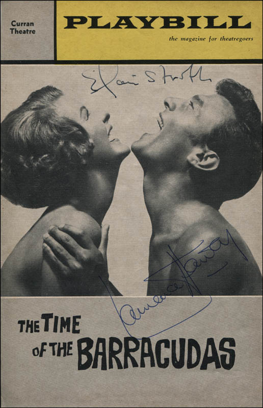 Image 1 for The Time Of The Barracudas - Show Bill Cover Signed co-signed by: Elaine Stritch, Laurence Harvey - HFSID 324033
