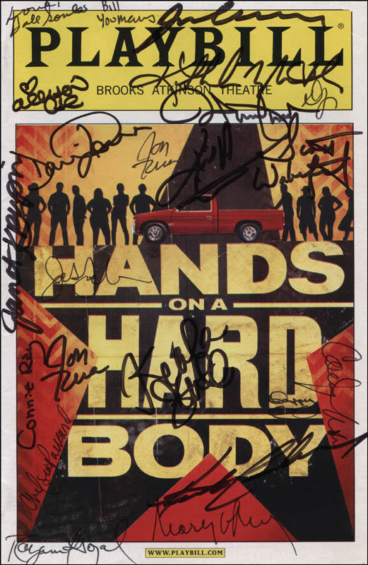 Image 1 for Hands On A Hard Body Play Cast - Show Bill Cover Signed with co-signers - HFSID 324039