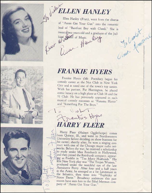 Image 6 for High Button Shoes Play Cast - Inscribed Program Signed with co-signers - HFSID 324042