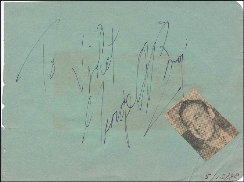 Image 1 for George O'Brien - Inscribed Signature Circa 1948 co-signed by: Jack Paar - HFSID 324055