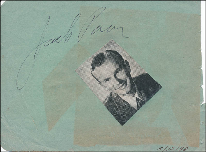 Image 3 for George O'Brien - Inscribed Signature Circa 1948 co-signed by: Jack Paar - HFSID 324055