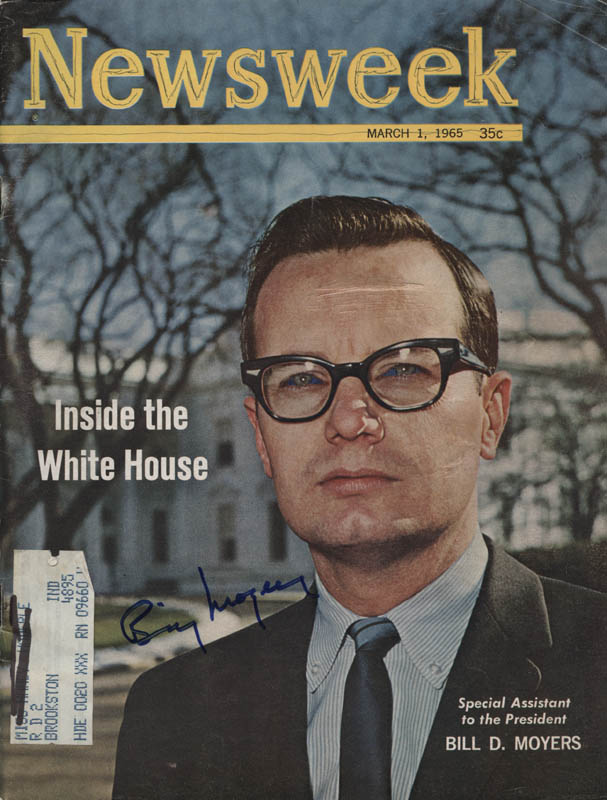 Image 1 for Bill Moyers - Magazine Cover Signed - HFSID 324086