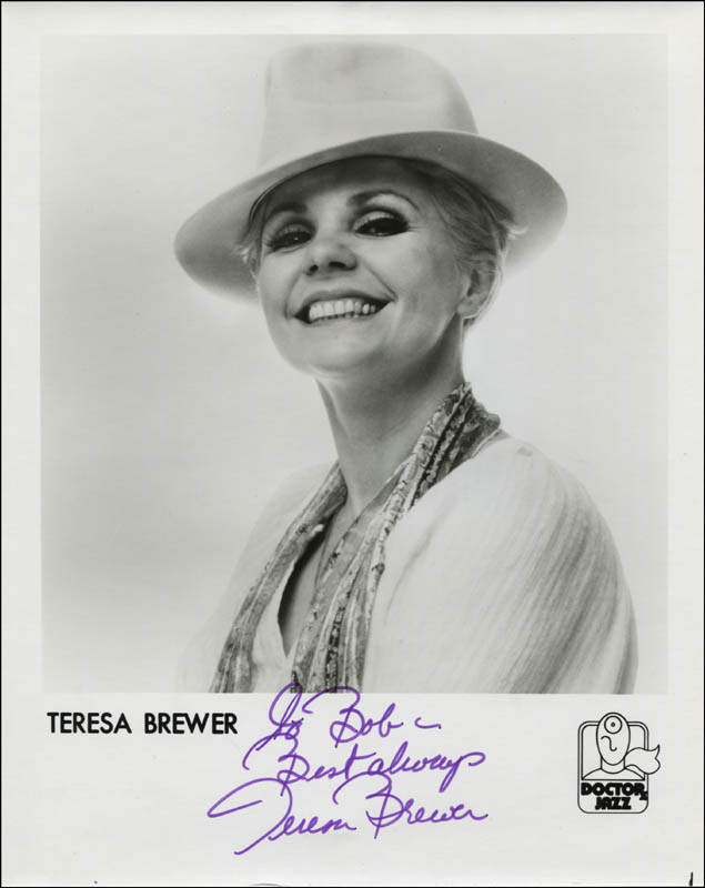 Image 1 for Teresa Brewer - Inscribed Printed Photograph Signed In Ink - HFSID 324191