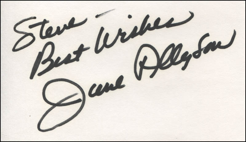 Image 1 for June Allyson - Autograph Note Signed - HFSID 324293