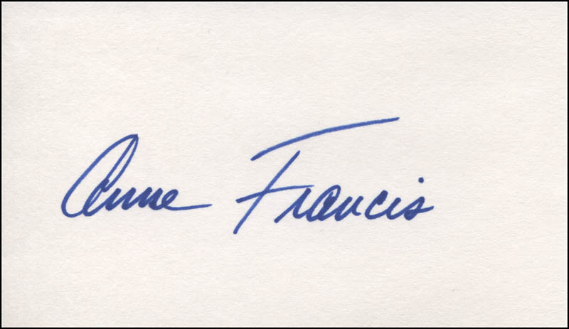 Image 1 for Anne Francis - Autograph - HFSID 324297