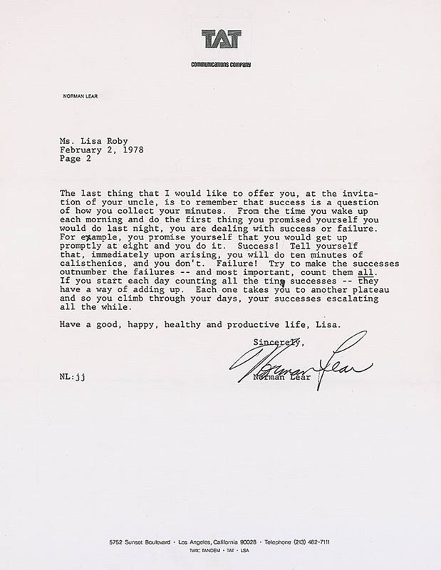 Image 1 for Norman Lear - Typed Letter Signed 02/02/1978 - HFSID 324308