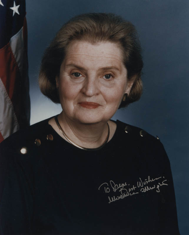 Image 1 for Madeleine Albright - Autographed Inscribed Photograph - HFSID 324332