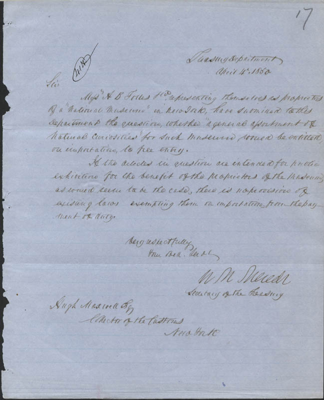 Image 1 for William M. Meredith - Manuscript Letter Signed 04/04/1850 - HFSID 324377