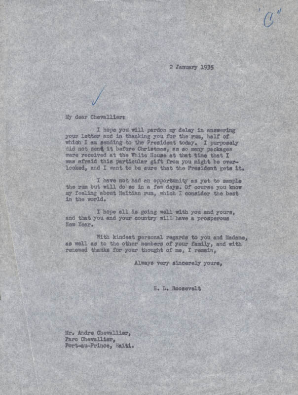 Image 5 for President Franklin D. Roosevelt - Typed Letter Signed 01/17/1935 - HFSID 32439