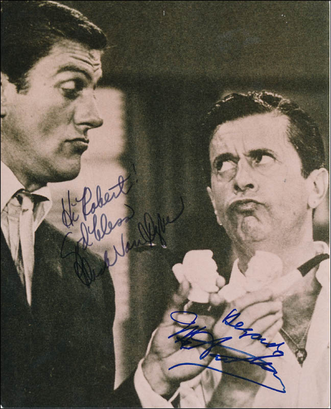Image 1 for The Dick Van Dyke TV Cast - Autographed Inscribed Photograph co-signed by: Dick Van Dyke, Morey Amsterdam - HFSID 324731