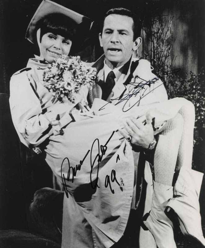 Image 1 for Get Smart TV Cast - Autographed Signed Photograph co-signed by: Don Adams, Barbara Feldon - HFSID 324743