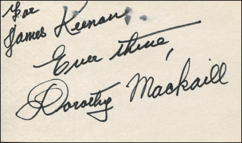 Image 1 for Dorothy Mackaill - Autograph Note Signed - HFSID 324808