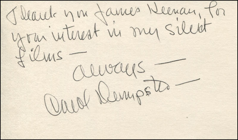 Image 1 for Carol Dempster - Autograph Note Signed - HFSID 324812