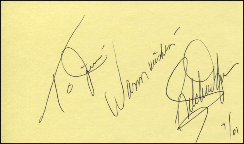Image 1 for Gretchen Wyler - Autograph Note Signed 07/2001 - HFSID 324819