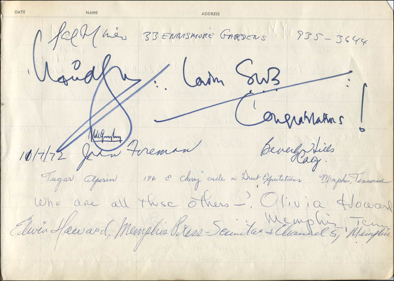 Image 1 for Sal Mineo - Autograph with co-signers - HFSID 324828