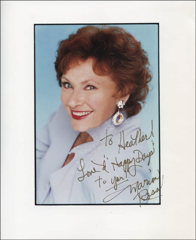 Image 1 for Marion Ross - Autographed Inscribed Photograph - HFSID 325137
