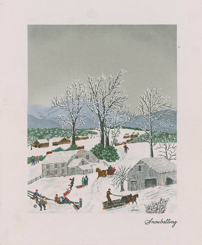 Image 3 for Grandma Moses - Christmas / Holiday Card Signed - HFSID 325173