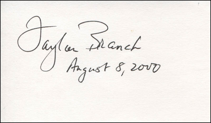 Image 1 for Taylor Branch - Autograph 08/08/2000 - HFSID 325205