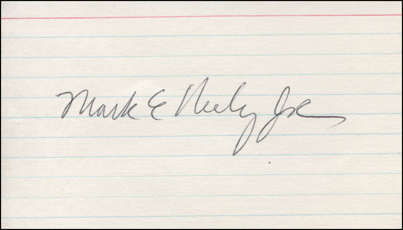 Image 1 for Mark E. Neely Jr. - Autograph - HFSID 325211