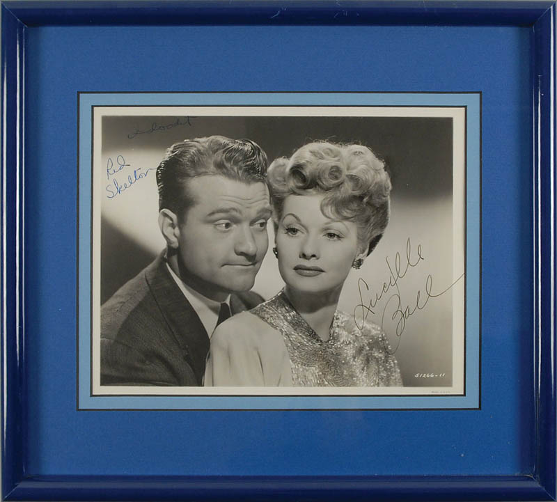 Image 1 for Du Barry Was A Lady Movie Cast - Autographed Signed Photograph co-signed by: Lucille 'Lucy' Ball, Red Skelton - HFSID 325317