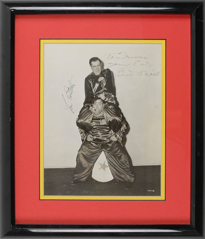 Image 1 for Abbott & Costello - Autographed Inscribed Photograph co-signed by: Abbott & Costello (Bud Abbott), Abbott & Costello (Lou Costello) - HFSID 325318