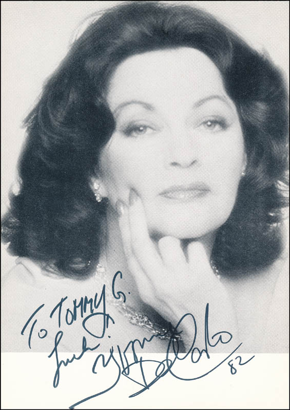 Image 1 for Yvonne De Carlo - Autographed Inscribed Photograph 1982 - HFSID 325329