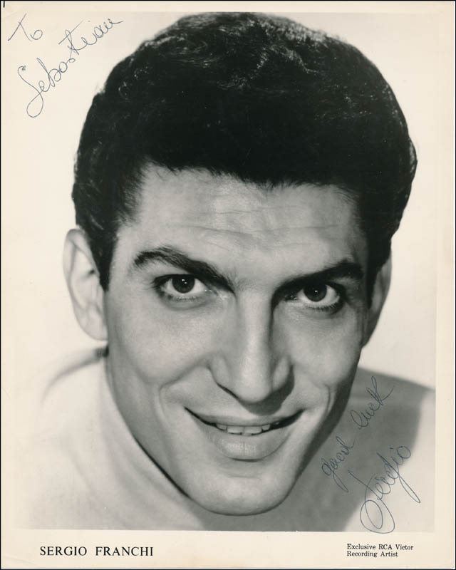 Image 1 for Sergio Franchi - Inscribed Printed Photograph Signed In Ink - HFSID 325330