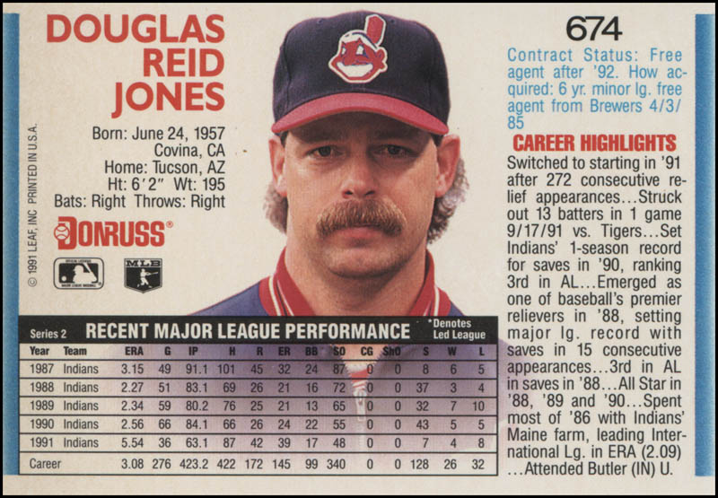 Image 3 for Doug Jones - Trading/Sports Card Signed - HFSID 325389