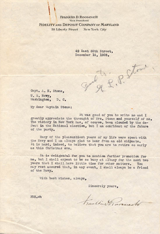 Image 1 for President Franklin D. Roosevelt - Typed Letter Signed 12/14/1928 - HFSID 32541