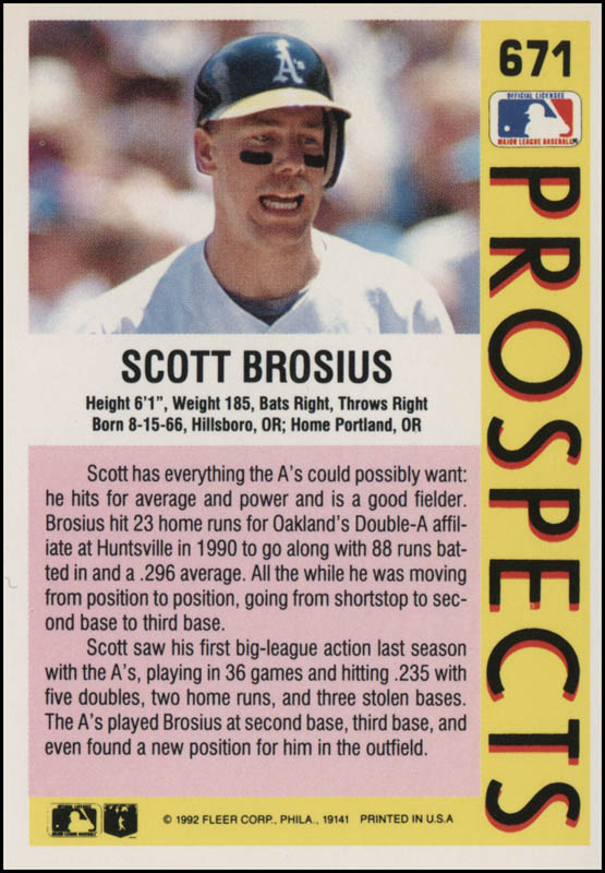 Image 3 for Scott Brosius - Inscribed Trading/Sports Card Signed - HFSID 325514