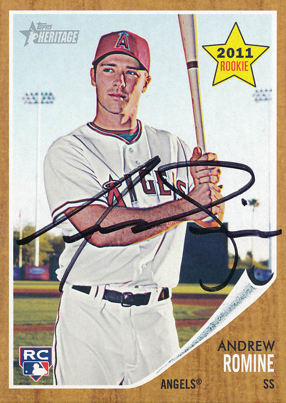 Image 1 for Andrew Romine - Trading/Sports Card Signed - HFSID 325565