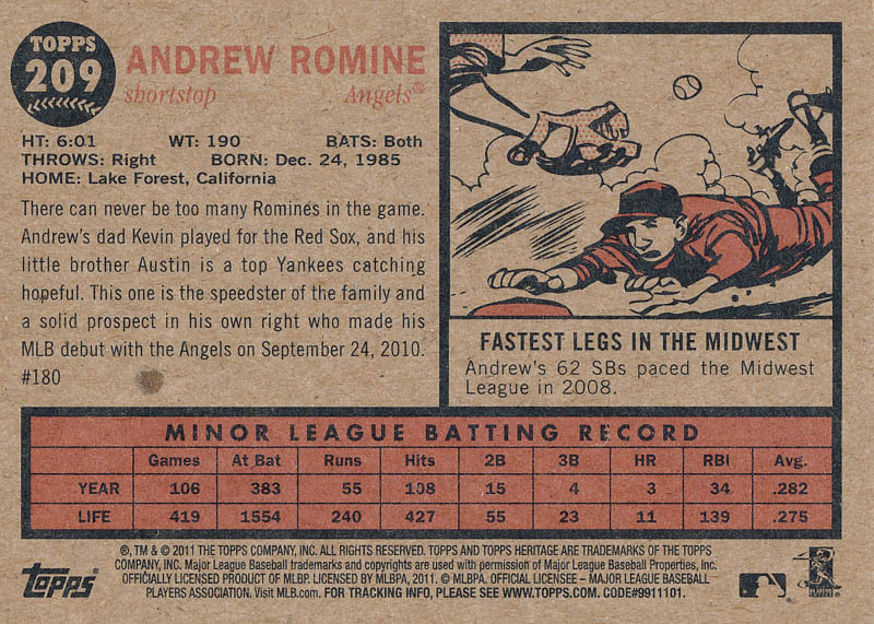 Image 3 for Andrew Romine - Trading/Sports Card Signed - HFSID 325565