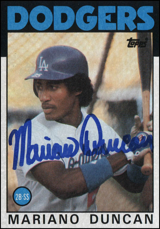Mariano Duncan Tradingsports Card Signed Historyforsale Item 325635