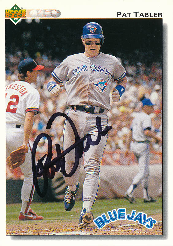 Pat Tabler - Trading/Sports Card Signed | Autographs & Manuscripts
