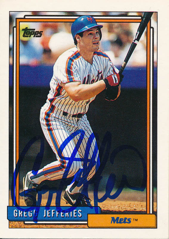 Gregg Jefferies Tradingsports Card Signed