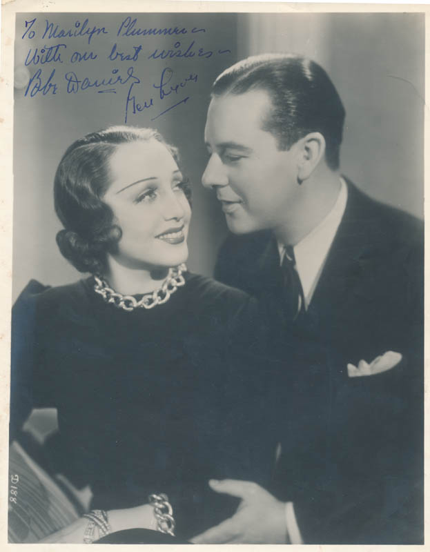 Image 1 for Ben Lyon - Autographed Inscribed Photograph co-signed by: Bebe Daniels - HFSID 326751